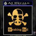 Breaking Bad Crossbones Decal Sticker Gold Vinyl 120x120