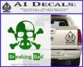 Breaking Bad Crossbones Decal Sticker Green Vinyl Logo 120x97