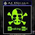 Breaking Bad Crossbones Decal Sticker Lime Green Vinyl 120x120