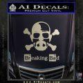 Breaking Bad Crossbones Decal Sticker Metallic Silver Emblem 120x120