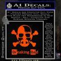 Breaking Bad Crossbones Decal Sticker Orange Emblem 120x120