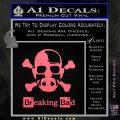 Breaking Bad Crossbones Decal Sticker Pink Emblem 120x120