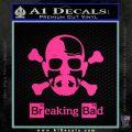 Breaking Bad Crossbones Decal Sticker Pink Hot Vinyl 120x120