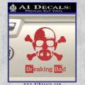 Breaking Bad Crossbones Decal Sticker Red 120x120