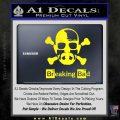 Breaking Bad Crossbones Decal Sticker Yellow Laptop 120x120
