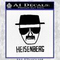 Breaking Bad Heisenberg Decal Sticker Black Vinyl 120x120