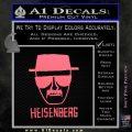 Breaking Bad Heisenberg Decal Sticker Pink Emblem 120x120