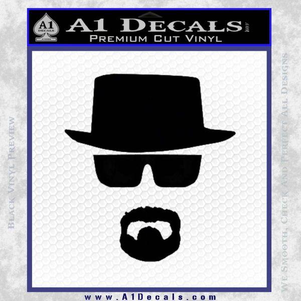 Breaking Bad Walter White Decal Sticker Black Vinyl