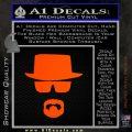 Breaking Bad Walter White Decal Sticker Orange Emblem 120x120