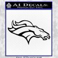 Broncos Decal Sticker D2 Black Vinyl 120x120