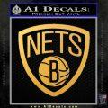 Brooklyn Nets D1 Decal Sticker Gold Vinyl 120x120