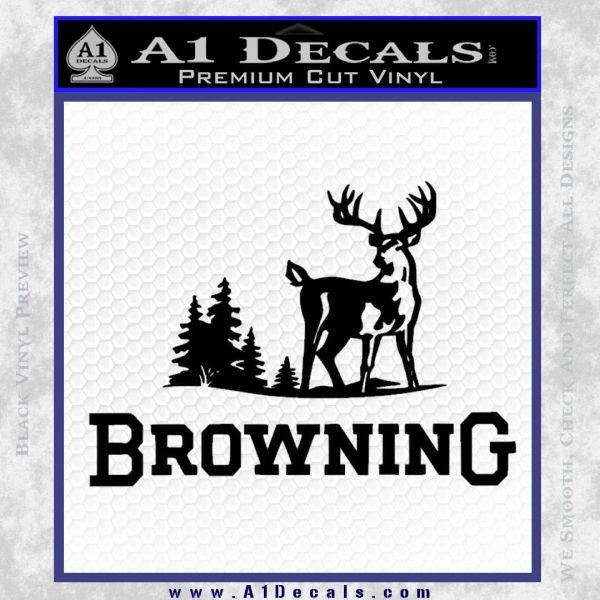 Browning D3 Decal Sticker Black Vinyl