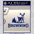 Browning D3 Decal Sticker Blue Vinyl 120x120