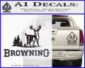 Browning D3 Decal Sticker Carbon FIber Black Vinyl 120x97