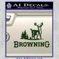 Browning D3 Decal Sticker Dark Green Vinyl 120x120