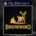 Browning D3 Decal Sticker Gold Vinyl 120x120