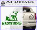 Browning D3 Decal Sticker Green Vinyl Logo 120x97