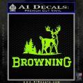 Browning D3 Decal Sticker Lime Green Vinyl 120x120
