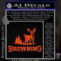 Browning D3 Decal Sticker Orange Emblem 120x120