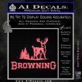 Browning D3 Decal Sticker Pink Emblem 120x120