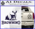 Browning D3 Decal Sticker PurpleEmblem Logo 120x97