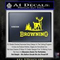 Browning D3 Decal Sticker Yellow Laptop 120x120