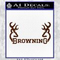 Browning Decal Sticker D2 BROWN Vinyl 120x120