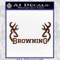 Browning Decal Sticker D2 BROWN Vinyl 120x120