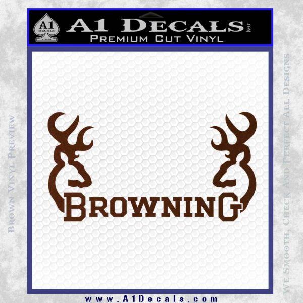 Browning Decal Sticker D2 BROWN Vinyl