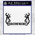 Browning Decal Sticker D2 Black Vinyl 120x120