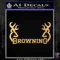 Browning Decal Sticker D2 Gold Vinyl 120x120
