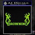 Browning Decal Sticker D2 Lime Green Vinyl 120x120