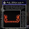 Browning Decal Sticker D2 Orange Emblem 120x120