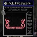 Browning Decal Sticker D2 Pink Emblem 120x120