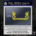 Browning Decal Sticker D2 Yellow Laptop 120x120