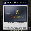 Browning Official Decal Sticker Glitter Sparkle 120x120