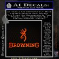 Browning Official Decal Sticker Orange Emblem 120x120
