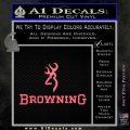 Browning Official Decal Sticker Pink Emblem 120x120
