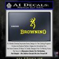 Browning Official Decal Sticker Yellow Laptop 120x120