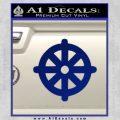 Buddhist Wheel Symbol Decal Sticker Blue Vinyl 120x120