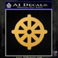 Buddhist Wheel Symbol Decal Sticker Gold Vinyl 120x120