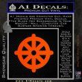 Buddhist Wheel Symbol Decal Sticker Orange Emblem 120x120