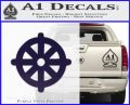 Buddhist Wheel Symbol Decal Sticker PurpleEmblem Logo 120x97