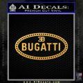 Bugatti D1 Decal Sticker Gold Vinyl 120x120