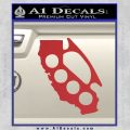 California Brass Knuckles Decal Sticker Red 120x120