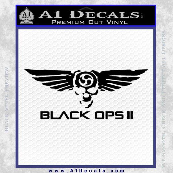 Call Of Duty Black Ops 2 Skull Wings Decal Sticker Black Vinyl