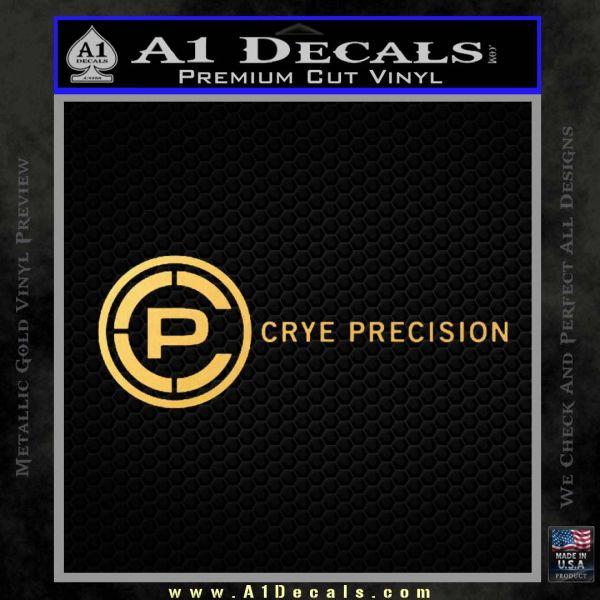 Crye Precision Decal Sticker Gold Vinyl