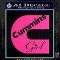 Cummins Girl Decal Sticker Pink Hot Vinyl 120x120