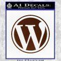Customizable Wordpress Logo D1 Decal Sticker BROWN Vinyl 120x120
