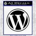 Customizable Wordpress Logo D1 Decal Sticker Black Vinyl 120x120